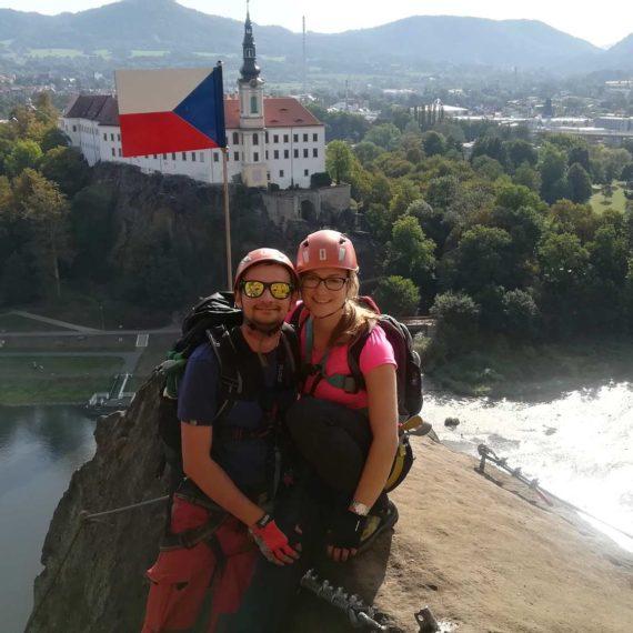 Via ferraty zajištěné cesty - teambuilding Ústí nad Labem