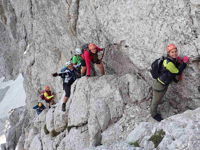 Via ferraty zajištěné cesty - teambuilding na horách