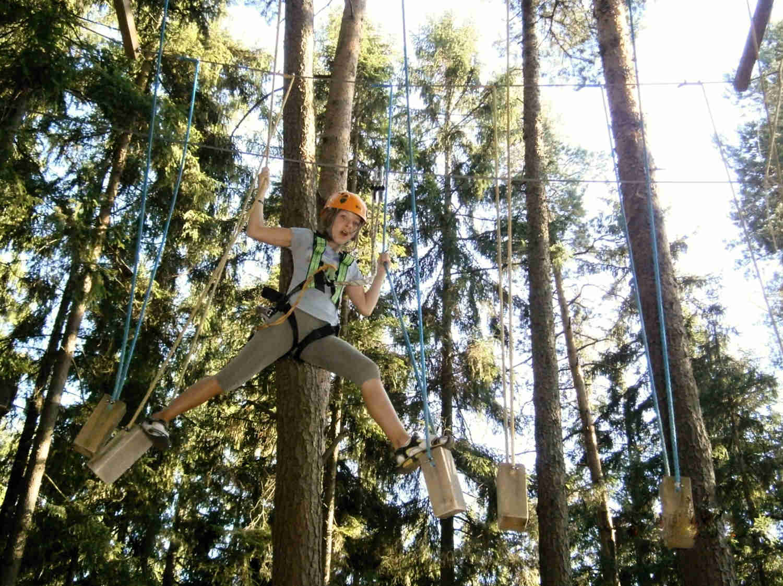 Vysoké lanové překážky - zábavné atrakce, pronájem atrakcí Ústecký kraj
