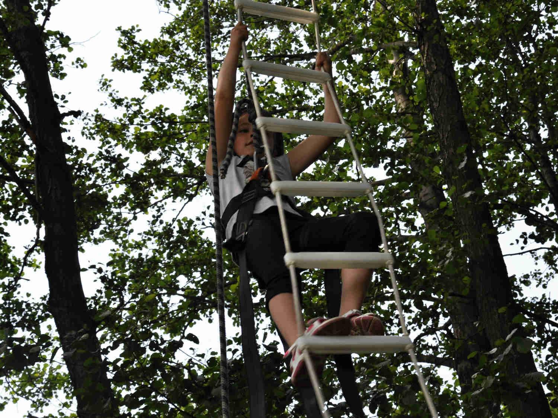 Provazový žebřík - zábavná atrakce pro děti Ústí nad Labem