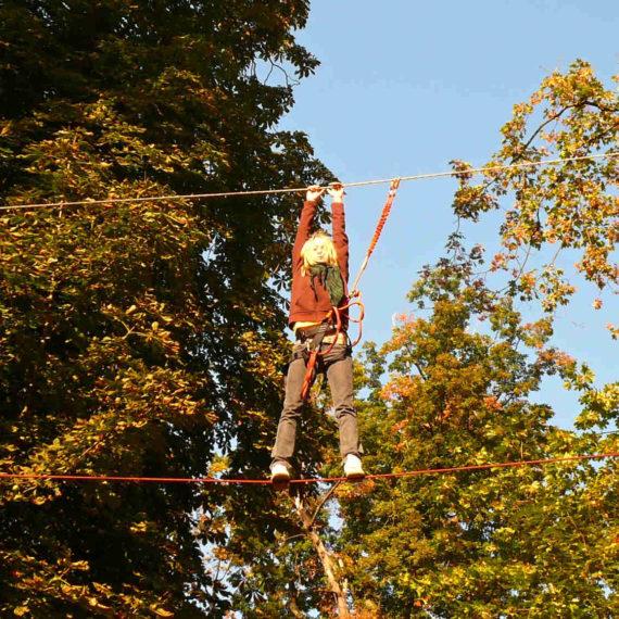 Vysoké lanové překážky - zábavné atrakce Ústí nad Labem