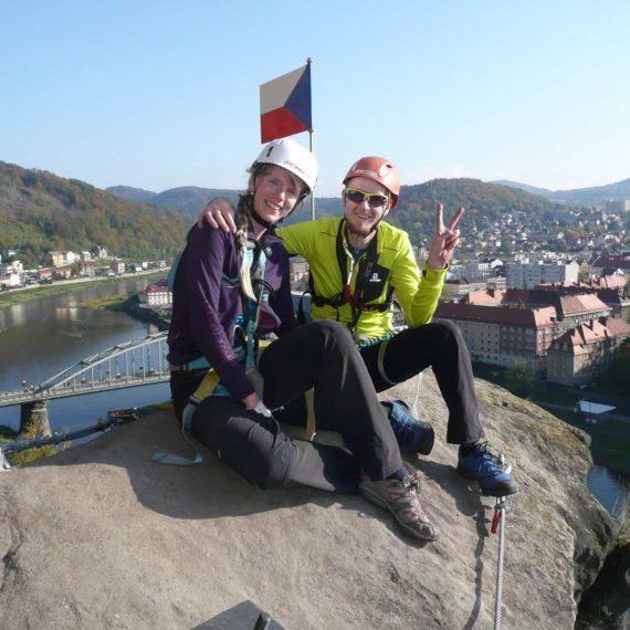 Via ferrata - zajištěná cesta, zábavná atrakce Ústí nad Labem