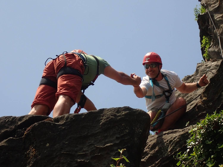 Via ferraty - zábavná atrakce ve skalách